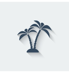 palm island vector image