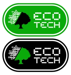 Eco tech symbols vector