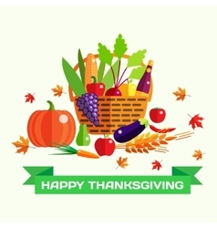 Happy thanksgiving day greeting card with vector