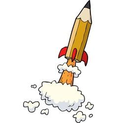 pencil rocket vector image