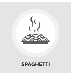 Spaghetti icon flat vector