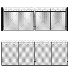 Metal mesh gate vector