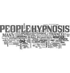 A guide to hypnosis text word cloud concept vector