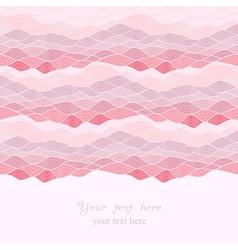 Abstract invitation card of waves look like ocean vector