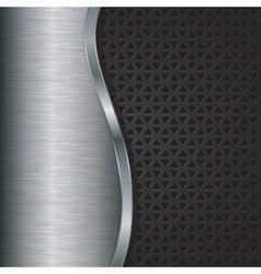 Abstract silver background with metallic grill vector