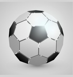 abstract soccer 3d ball vector image vector image