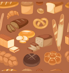 Baton bread seamless pattern cartoon vector