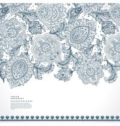 Beautiful indian floral paisley ornament print vector