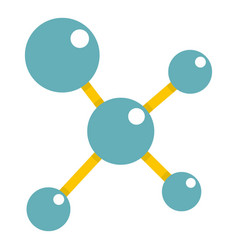 blue molecule structure icon isolated vector image vector image