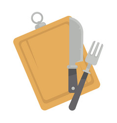Board with tableware vector