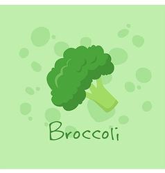 Broccoli vegetable vector