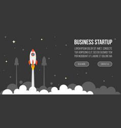 business startup template for banner vector image vector image