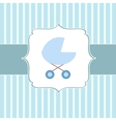 Cute BABY BOY greeting card vector image