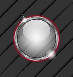 Glass ball as speech bubble vector image vector image