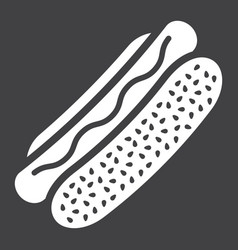 hot dog glyph icon food and drink fast food vector image vector image