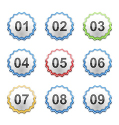 Labels with Numbers vector image