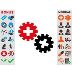 Medical gears icon vector