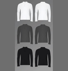Men polo t shirt long sleeve vector