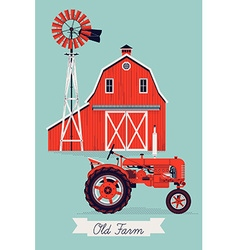 Old farm vector