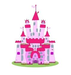 Pink castle - vector