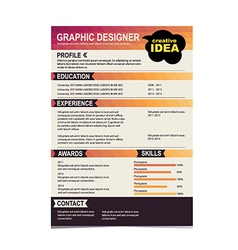 Resume Template Cv Creative Background Vector Image Vector Image  Resume Background Image