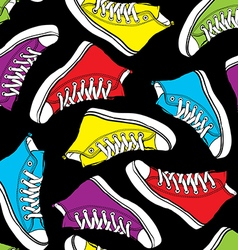 seamless pattern bright colored boots vector image vector image