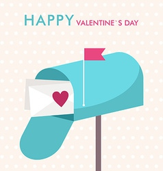 St Valentines day greeting card in flat style vector image vector image