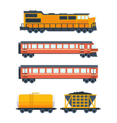 steam locomotive with various wagons vector image vector image