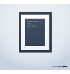 Stylish black photoframe with mount vector image vector image