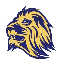 Stylish emblem of lion head for the sports team vector