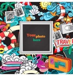 Abstract photo frame vector