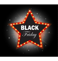 Black Friday Banner shining star retro vector image