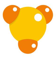 yellow molecule icon isolated vector image
