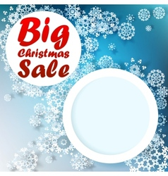 Christmas big sale template vector