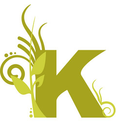 nature k vector image