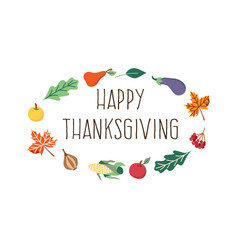Happy thanksgiving card template isolated vector