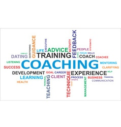 Word cloud coaching vector