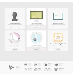 Web design elements inforgraphics vector image