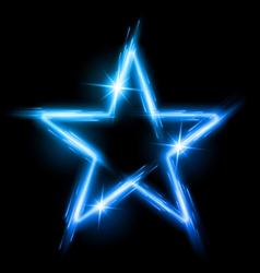 Neon star vector image