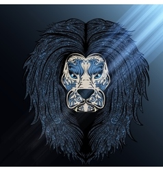 Lion blue moon vector