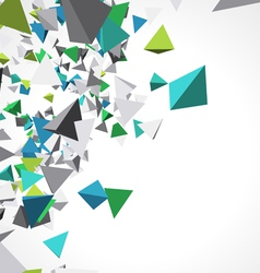 Fly colorful 3d pyramids background vector