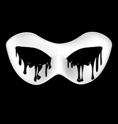 Mysterious half mask vector