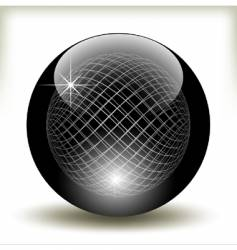 refracting sphere vector image
