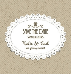 Decorative save the date invite 0502 vector
