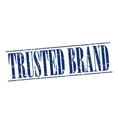 Trusted brand blue grunge vintage stamp isolated vector
