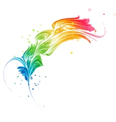 Abstract multicolored element vector