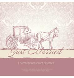 wedding vintage card vector image