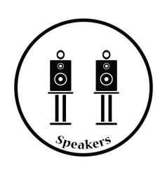 Audio system speakers icon vector