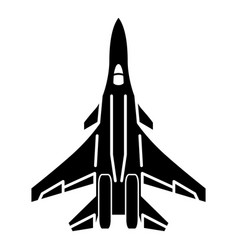 Bomber icon simple style vector
