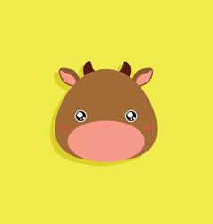 Cartoon cow face vector